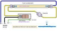 Esquemas eléctricos: Esquema eléctrico Tubo fluorescente