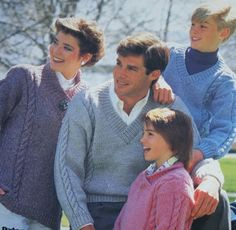 Sweater Knitting Pattern Vintage Family Beehive by elanknits (Craft Supplies & Tools, Patterns & Tutorials, Fiber Arts, Knitting, sweater pattern, knitting pattern, elanknits, Patons 4002, jumper pattern, knitting, v neck collar, shawl collar, men, women, children, cables, pullover pattern)
