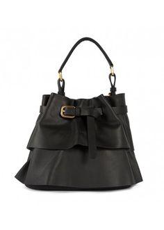 Lupo Barcelona - Isadora Medium Black - Handbags #leather #botd #handbags #bucketbag #chic