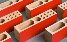 "graphicdesigned: ""Desk Tidy Branding for Kibsgaard-Petersen by Heydays "" Desktop Accessories, Office Accessories, Wood Projects, Woodworking Projects, Desk Tidy, Graphic Projects, Home Goods Decor, Desktop Organization, Pencil Holder"