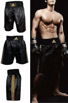 Adidas multi #boxing #shorts #black & gold brand new 100% satin bagged & tagged,  View more on the LINK: http://www.zeppy.io/product/gb/2/191713974335/