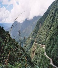 Yungas Road, Bolivia - Road of Death - very high, very narrow, very scary.
