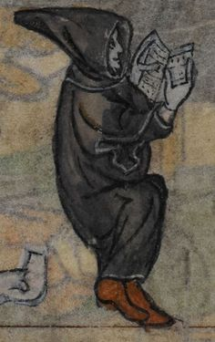 Detail from medieval manuscript, British Library Stowe MS 17 'The Maastricht Hours', f139v