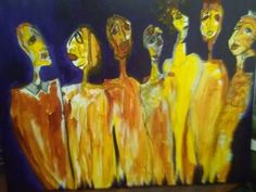 """""""The Whole Fam-Damly"""" Acrylic on Canvas from Dazzio Art Class"""