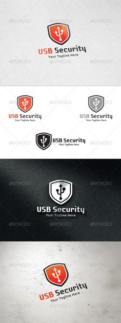 USB Security Logo Template — Vector EPS #network #software • Available here → https://graphicriver.net/item/usb-security-logo-template/8542715?ref=pxcr