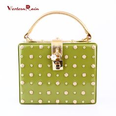 WesternRain New Arrival Grass-green Top Quality Gold Plated Flower Beads with Gold Chain Fashion Ladies Evening Dinner Party Shoulder Handbag 8093-11-GR3 (Color: Grass green) Brand Name: WesternRain Item Type: bag  Fine or Fashion: Fashion Included Additional Item:bag Style: Trendy Gender:Women Material:PU leather Occasion:Wedding,Party Metals Type: Copper alloy Shape: Square Color of bag : Grass-green Size of bag: 20cmX16cm The thickness of bag: about 8cm The bag belt could be adjusted