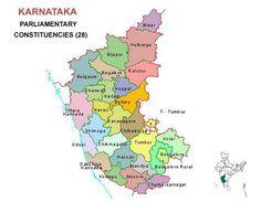 Karnataka Lok Sabha 2014 Election Constituency Map