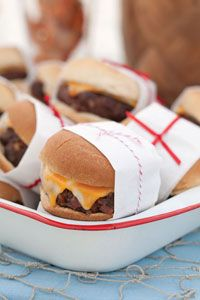 Bacon Cheeseburger Sliders #Recipe  http://www.stockpilingmoms.com/2010/03/bacon-cheeseburger-sliders/
