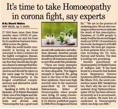 It's time to take Homeopathy in corona fight