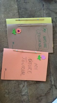 The kids at Urbanstead made the nature journals from WIngs, Worms, and Wonder! Super cute right?!