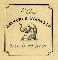 Bookplate of Arthur B. Evans