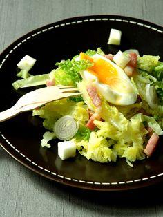 Salade d'hiver au chou vert - Recette de cuisine Marmiton : une recette