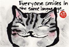 Everyone smiles... by Hawaii Cat Artist, via Flickr