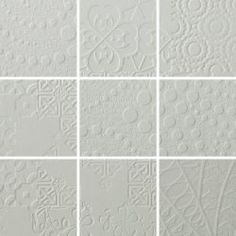 3D Relief Mosaic Mix Pattern Ashgrey 100x100