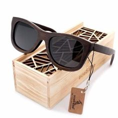 f2f2632d05 Preppy Wayfarer Bamboo Wood Sunglasses  3 Variants