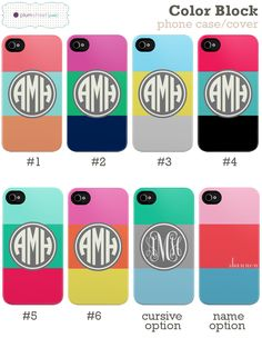 "My FAVORITE website to order iPhone cases from! Loving their new ""color block"" design!!!"
