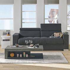 Table basse effet b ton gris et noir hilo les tables for Table basse hilo