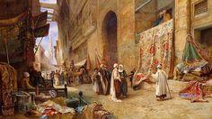 شارع الغورية، القاهرة. لوحة من أعمال تشارلز روبرتسون (١٨٤٤ - ١٨٩١).