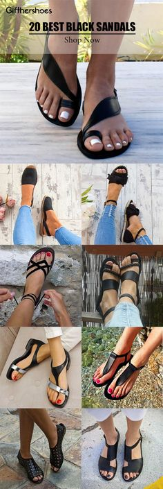 SHOP Black Sandals,Outdoor Sandals,Daily Sandals Shoes Picks for Your Daily Outfits Must Have One!Buy 2 Get OFF Code is part of Outdoor sandals - Cute Sandals, Cute Shoes, Me Too Shoes, Shoes Sandals, Black Sandals Outfit, Flats, Heels, Look Fashion, Fashion Shoes