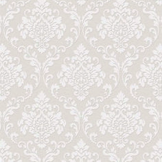 Damask Wallpaper, Wallpaper Decor, Textured Wallpaper, Small Space Interior Design, Interior Design Living Room, Living Room Accents, White Damask, Blue Accents, Paper Background
