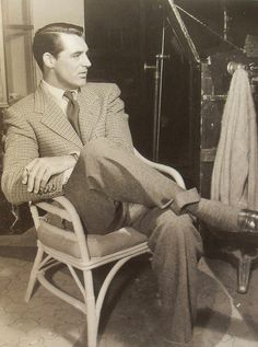 1940s Cary Grant In A Suit On Film Set Vintage Hollywood by Christian Montone, via Flickr