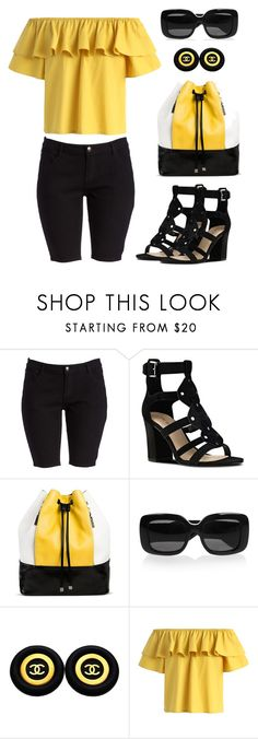 """""""Untitled #1431"""" by gallant81 ❤ liked on Polyvore featuring Nine West, Cesca, Bottega Veneta, Chanel and Chicwish"""