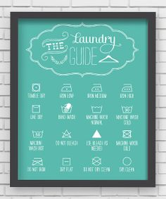 smart! / Blue Laundry Guide Wall Art