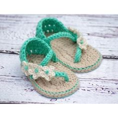 Instant Download - Crochet Baby Pattern Sandals - Carefree Sandals $5.50