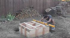 Place the frame | Turn Your Backyard Into A Camping Area With This DIY Outdoor Fire Pit