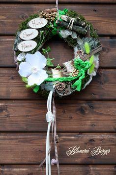 Blumen - :::::: Türkranz Home Sweet Home ::::::: - ein Designerstück von BlumereiBerger bei DaWanda