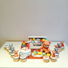 Baby full moon cake / baby toy box cake by baking witch