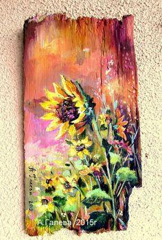 Fall Canvas Painting, Pallet Painting, Autumn Painting, Wood Pallet Art, Reclaimed Wood Art, Arte Country, Driftwood Art, New Wall, Artist Art