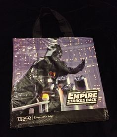 Star Wars Empire Strikes Back Tote Bag Tesco Darth Vader C3PO R2D2 Droids   Tesco R2d2 ce50e26e4c