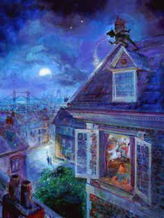 Waiting for Peter Pan   Painted by Harrison Ellenshaw