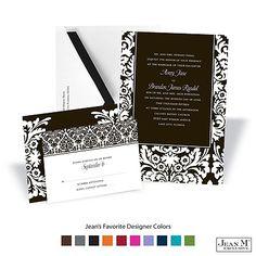 Dramatic Damask Wedding Invitation
