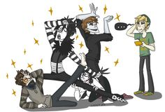 Toby, Laughing and Eyeless Jack, Jeff and Ben