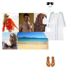 """""""Spending the morning at the beach with Gustaf, Ariane and Caroline"""" by hrhprincessamelia ❤ liked on Polyvore featuring Melissa Odabash, Tomas Maier, Tiffany & Co., CÉLINE and Aéropostale"""