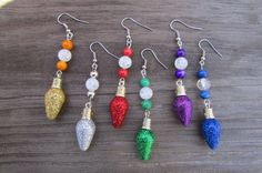 Christmas Ornament Earrings, Holiday Dangle Earrings, Lightweight Earrings, Christmas Gifts for Her by RaysCraftBox on Etsy