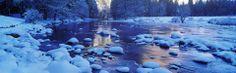 Ces images panoramiques exposent la beauté immaculée des paysages du monde entier recouverts de neige.