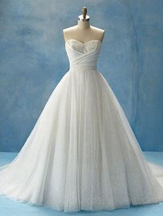 A-Line Sweetheart Long Organza Wedding Dress @Caitlyn Sweeney Allan