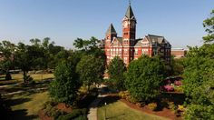 View of Samford Hall on Auburn University's campus in Auburn, Alabama