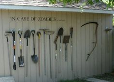 Lol!  This will make it more fun for the kids! In case of zombies... or yard work