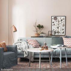 Eine Farbkombi für das Zuhause, mit der man nichts falsch machen kann, setzt sich aus einer neutralen, eher kühlen Farbe und einer wärmeren Farbe zusammen. Pastelltöne …