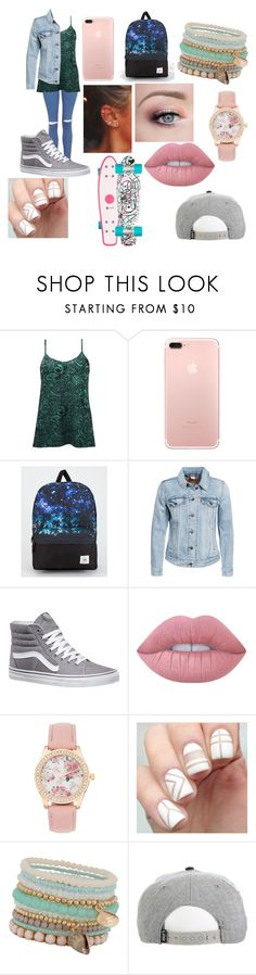 """Lauren"" by emilypaul0400 on Polyvore featuring BKE, Vans, Levi's, Lime Crime and ALDO"