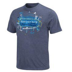 Tampa Bay Rays Majestic Career High Heathered T-Shirt
