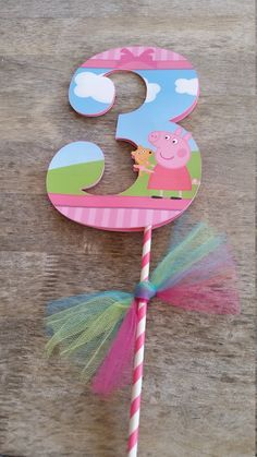 Peppa pig centerpiece cut outs peppa pig by SilviasPartyDecor