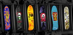 Signed and unsigned 5th series decks in shadowboxes