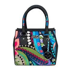 Desigual, anyone? This bag is a dead ringer for the avant-garde Spanish design house.