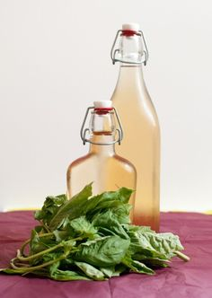 Making your own basil infused vodka...I've already got so many cocktail recipes in mind!