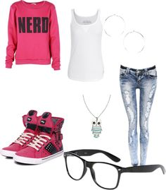 """""""Cute nerd outfit, love the pants, and the shoes!"""" by sarahlott on Polyvore"""